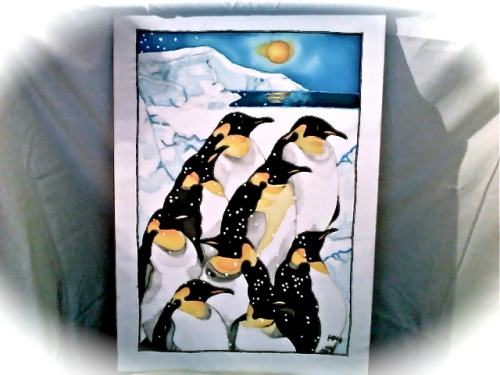 The Penguins I painted in 2002