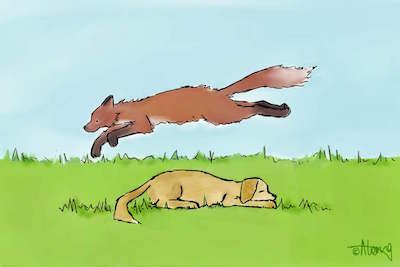 The quick brown FOX jumped over the lazy DOG